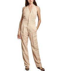 linen sleeveless jumpsuit