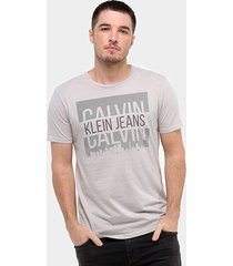 camiseta calvin klein buildings masculina - masculino