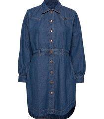 western dress dresses shirt dresses blå wrangler