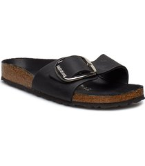 madrid big buckle shoes summer shoes flat sandals svart birkenstock