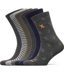 6pp logo stripe mix crew gift box underwear socks regular socks grön timberland