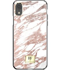 richmond & finch rose gold marble case for iphone xr