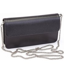 royce chic rfid blocking women's wristlet convertible cross body bag in genuine leather