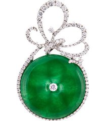 diamond jade cutout swirl pendant