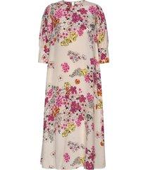 delicate midi dress knälång klänning rosa by ti mo