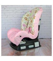 capa para cadeira - safári elefante rosa