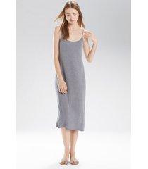 natori shangri-la nightgown, women's, grey, size l natori