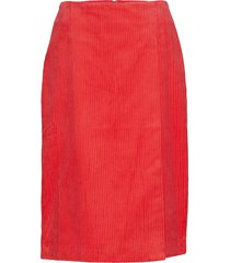 tessa pencil knälång kjol röd designers, remix