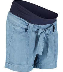 shorts prémaman effetto jeans  con lino (blu) - bpc bonprix collection