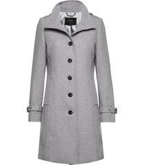 coat wool yllerock rock grå taifun