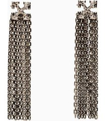 off-white arrow pendant earrings owod049e20met001