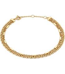 ava nadri 18k gold tone layered bracelet