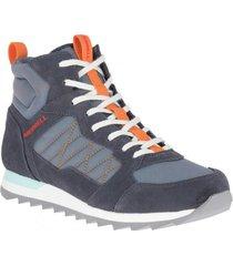 botin alpine sneaker mid azul cielo merrell