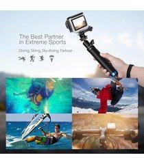 mini cámara extensible selfie palo monopod para el deporte de mano blitzwolf bw-bs0 - negro