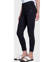 pantalón ash doble botón negro - calce ajustado