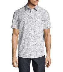 edan classic-fit floral cotton shirt