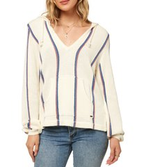 women's o'neill campfire hooded sweater, size small - white