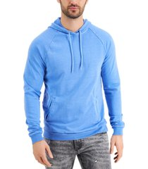 inc men's garment-dyed french terry hoodie, created for macy's