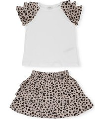 liu-jo suit with t-shirt and skirt