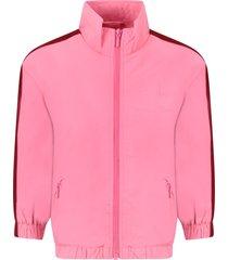 molo pink girl sweatshirt with logo