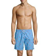 cuts premium lobster-embroidered swim trunks