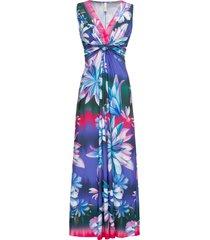 abito lungo a fiori (viola) - bodyflirt boutique