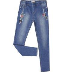 jeans bordado denim corona