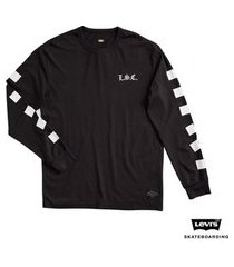 camiseta levis man skateboarding graphic estampa