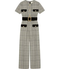 gucci prince of wales wool jumpsuit - grey