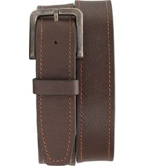 men's trask sumner leather belt, size 42 - dark brown american steer