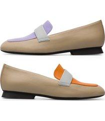 camper twins, zapatos planos mujer, gris/naranja/violeta, talla 41 (eu), k200991-002