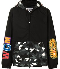 a bathing ape® micro ape patch sweatshirt - black