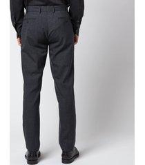 canali men's 5 pocket soft construction slim fit trousers - black - it 48