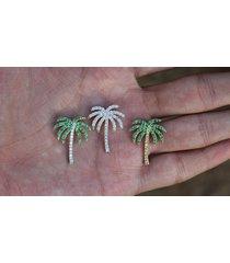 "0.50 ctw multi-stone 925 silver hawaiian palm beach tree gift pendant 18"" chain"