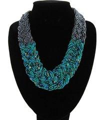 collar artesanal verde alamoda acl 12794