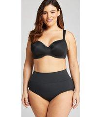 lane bryant women's level 2 slimmer high-waist full brief panty 22/24 black