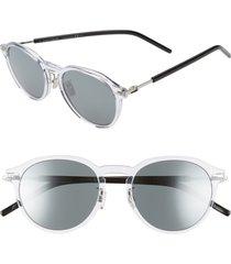 men's dior homme technicity 52mm round sunglasses -