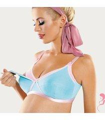 op en top zwanger voedingsbeha positiebeha blue jelly