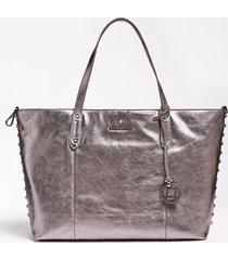 błyszcząca torba typu shopper model luxe eve