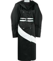 kiko kostadinov wide-sleeved trench coat - black
