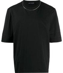 neil barrett travel chain jersey t-shirt - black