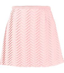 marco de vincenzo textured a-line skirt - pink