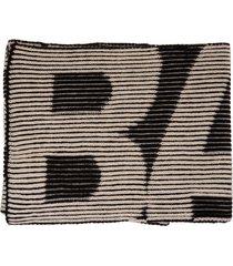 balenciaga unisex black turn scarf