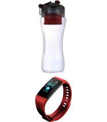 botella c/filtro 650 roja oko  banda sm36 roja lhotse