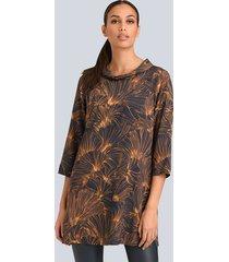 blouse alba moda marine::cognac