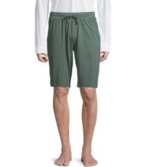 unsimply stitched super soft loose knit cotton shorts - melange green - size m