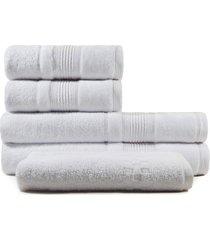 jogo de toalhas de banho 5 peças fio penteado appel splendore branca