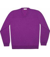 maglione da uomo, lanieri, extra fine viola, quattro stagioni | lanieri