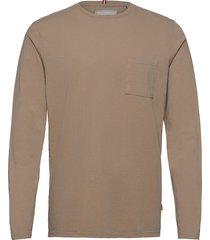brenon linen ls t-shirt t-shirts long-sleeved bruin les deux