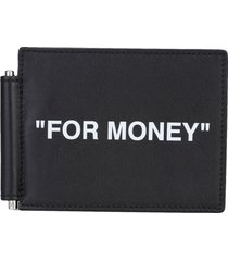 off white quote bill clip wallet